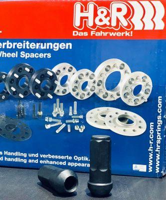 H&R Black Wheel Nut M14x1.5 56MM JEEP JL/JT