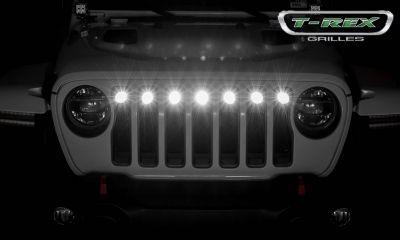 "ZROADZ Torch Grille Insert with 2"" LED Round Lights Jeep JL/JT Gladiator"