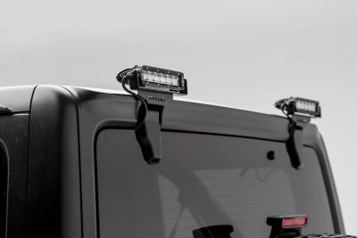 "ZROADZ Jeep JL Rear Window LED Kit with 6"" LED Straight Single Row Slim Light Bars"