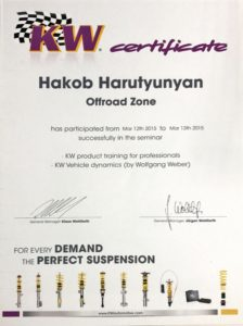 KW Certificate