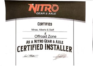 NITRO GEAR & AXLE CERTIFIED INSTALLER