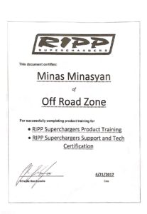 RIPP Superchargers Support and Tech Certification